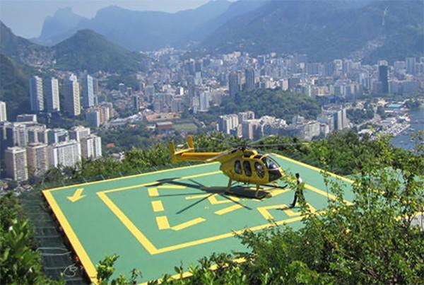 屋顶直升机停机坪的尺寸是多少?
